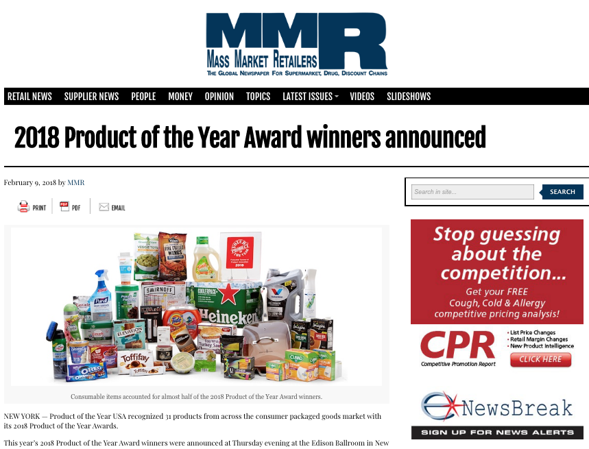 PRESS | Product of the Year USA