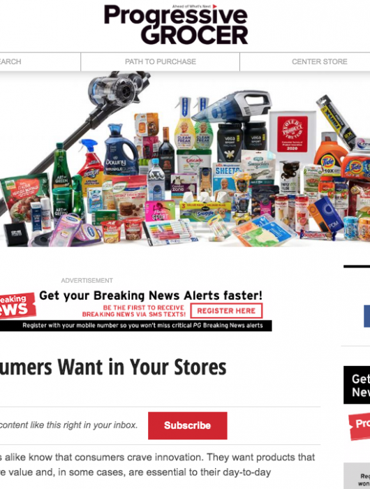 Progressive Grocer: 41 Products Consumers Want in Your Stores