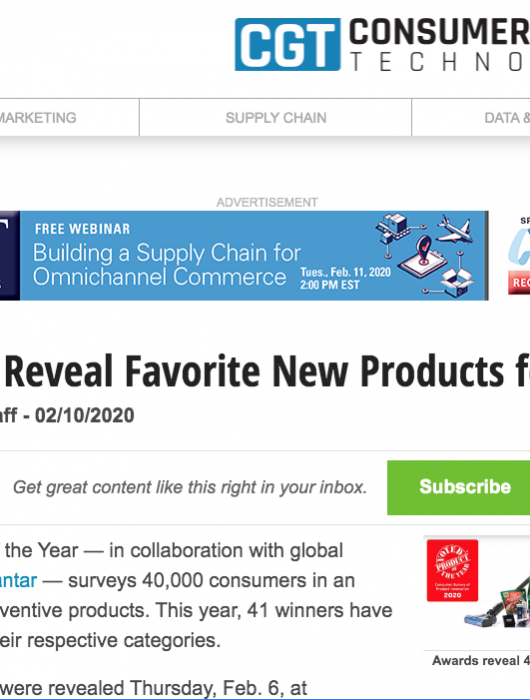 Consumer Goods Technology: Consumers Reveal Favorite New Products of 2020
