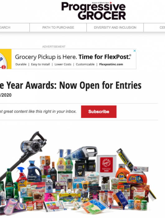Progressive Grocer: Product of the Year Open for Entries
