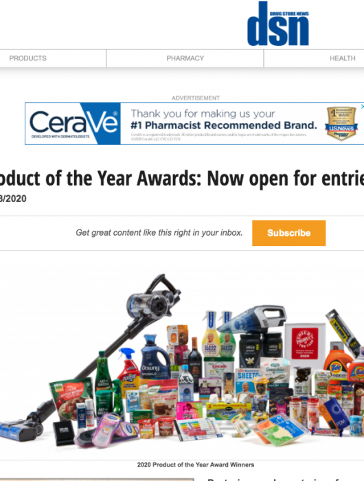 Drug Store News: Product of the Year Open for Entries