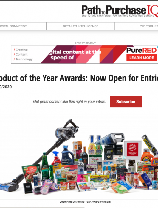Path to Purchase IQ: Product of the Year Open for Entries