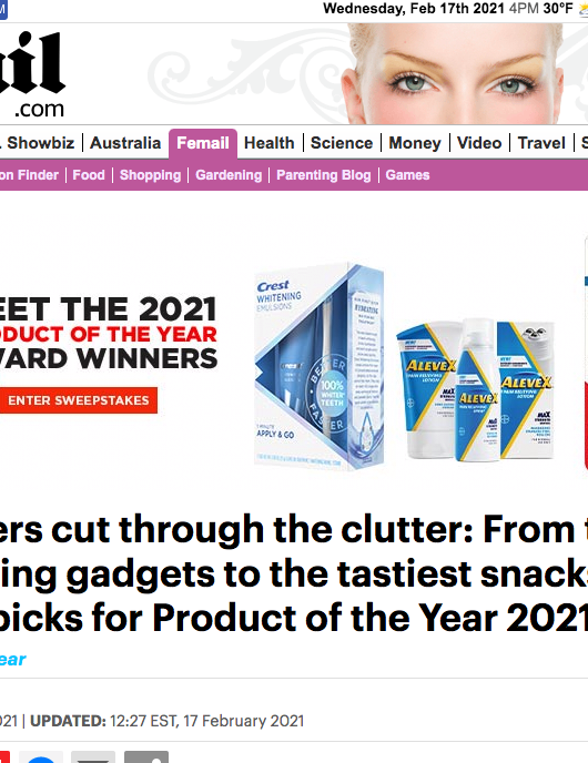 Daily Mail: Meet the 2021 Product of the Year Winners