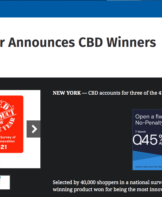 CSP Daily News: Product of the Year Announces CBD Winners