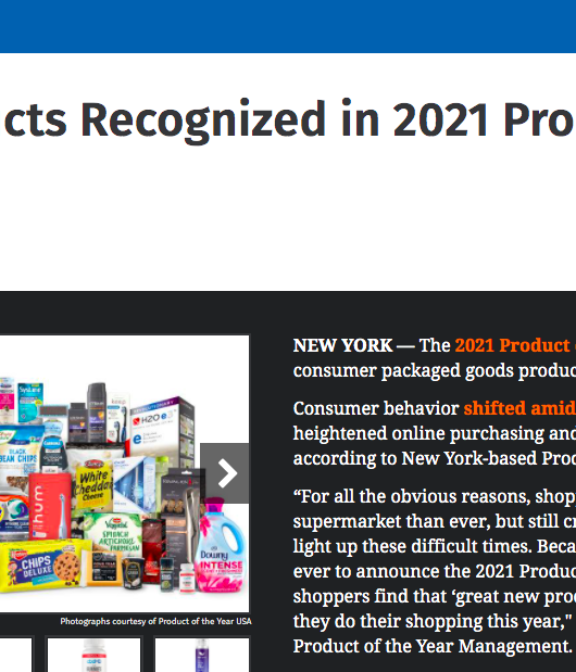 CSP Daily News: C-Store Products Recognized in 2021 Product of the Year Awards