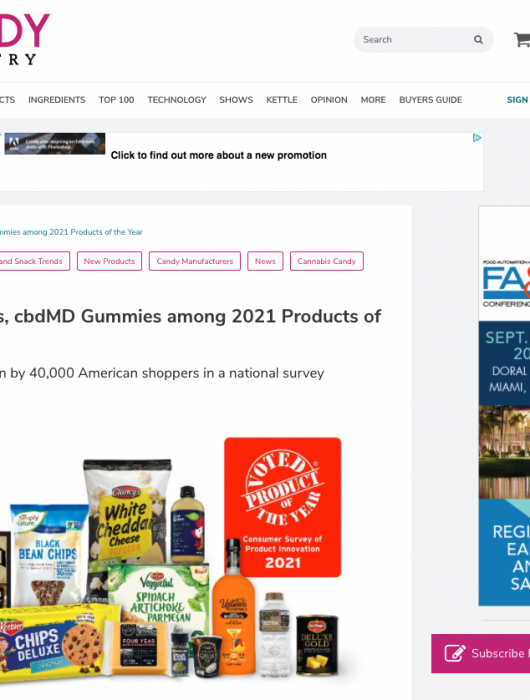Candy Industry: Keebler cookies, cbdMD Gummies among 2021 Products of the Year