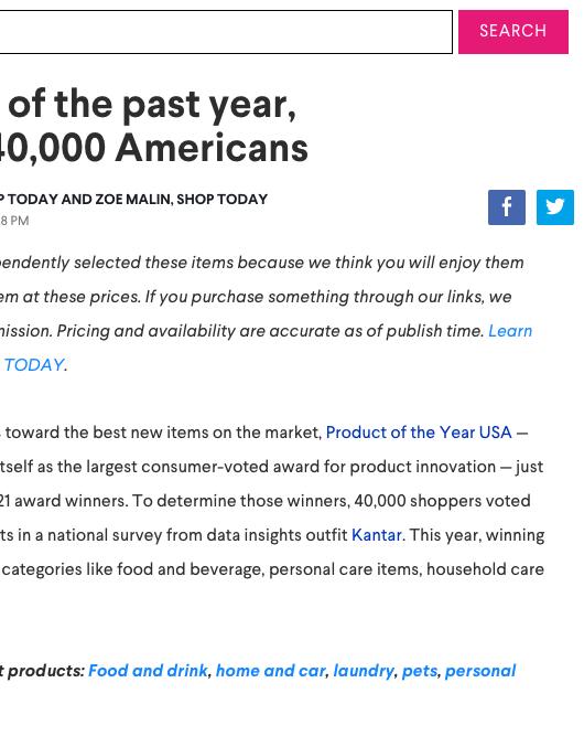 AOL: Best products of the past year, according to 40,000 Americans