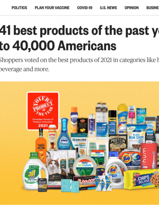 NBC News: 41 best products of the past year, according to 40,000 Americans