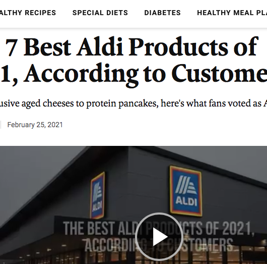 EatingWell: The 7 Best ALDI Products of 2021, According to Customers